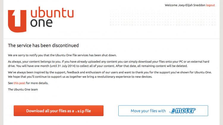 ubuntu-one-cerrado