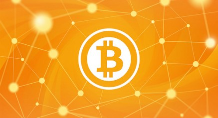 Bitcoin-Logo-en-una-red-437x237